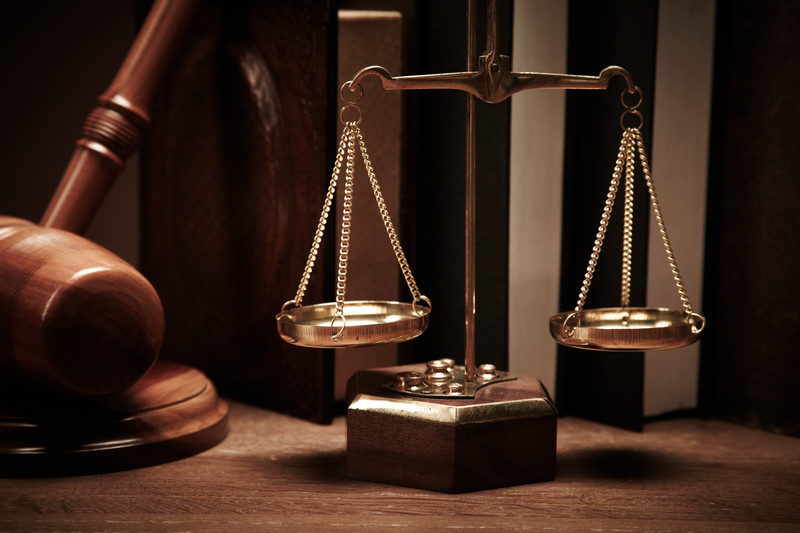 Gavel and Justice Scales for Criminal Law